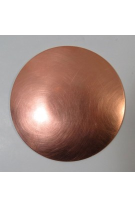 Plate Ø 3 inch - ( Pack of 1 ) Copper Copper Ref: 69