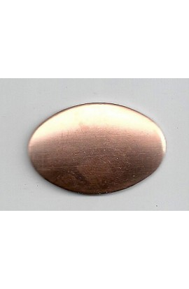 Oval, domed 1 1/16 X 1 9/16 inch - ( Pack of 10 ) Copper Ref: 401
