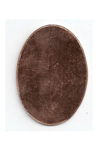 Oval 1 1/4 X 1 13/16 inch - ( Pack of 5 ) Copper Ref: 411
