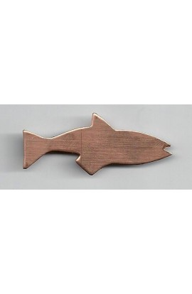 Fish 13/16 X 1 15/16 inch - ( Pack of 10 ) Copper Ref: 417