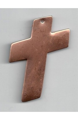 pendant, cross 1 5/8 X 2 7/16 inch - ( Pack of 5 ) Copper Ref: 440