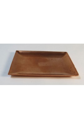 Rectangular plate 2 3/8 X 3 1/8 inch - ( Pack of 1 ) Copper Ref: 75