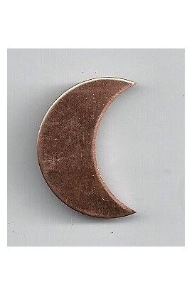 Quarter of moon 11/16 X 1 inch - ( Pack of 10 ) Copper Ref: 504