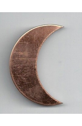Quarter of moon 1 X 1 1/2 inch - ( Pack of 10 ) Copper Ref: 505