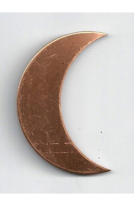 Quarter of moon 1 1/4 X 2 inch - ( Pack of 10 ) Copper Ref: 506