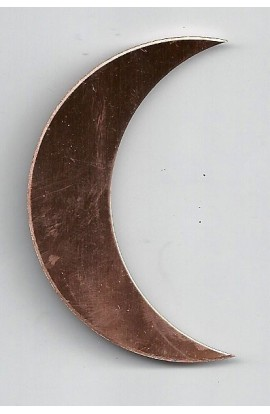 Quarter of moon 1 9/16 X 2 1/2 inch - ( Pack of 5 ) Copper Ref: 507