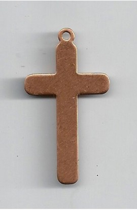 Pendant, cross 1 X 1 7/8 inch - ( Pack of 5 ) Copper Ref: 511
