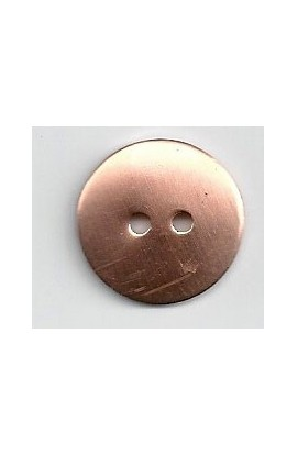 Button, domed Ø 3/4 inch - ( Pack of 10 ) Copper Ref: 76
