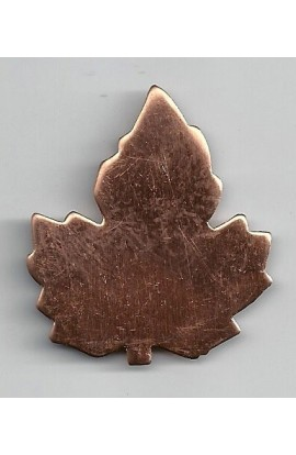 Maple leaf 1 5/8 X 1 7/8 inch - ( Pack of 5 ) Copper Ref: 700