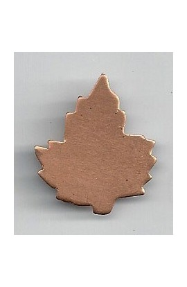 Maple leaf 15/16 X 1 1/16 inch - ( Pack of 10 ) Copper Ref: 701