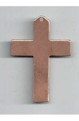 Pendant, cross 1 3/8 X 2 inch - ( Pack of 5 ) Copper Ref: 702