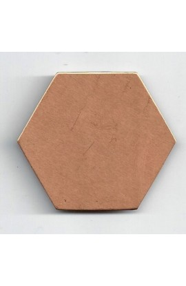 Hexagon 1 15/16 X 1 3/4 inch - ( Pack of 5 ) Copper Ref: 735