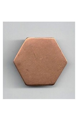 Hexagon 15/16 X 9/16 inch - ( Pack of 10 ) Copper Ref: 736
