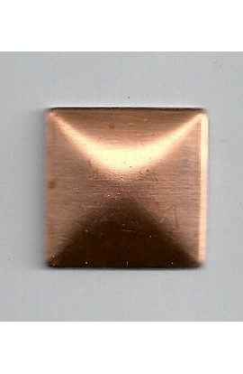 Square, domed 15/16 inch - ( Pack of 10 ) Copper Ref: 737