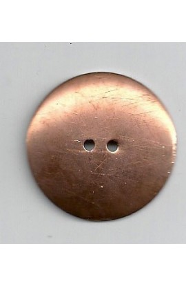 Button, domed Ø 1 1/4 inch - ( Pack of 5 ) Copper Ref: 78