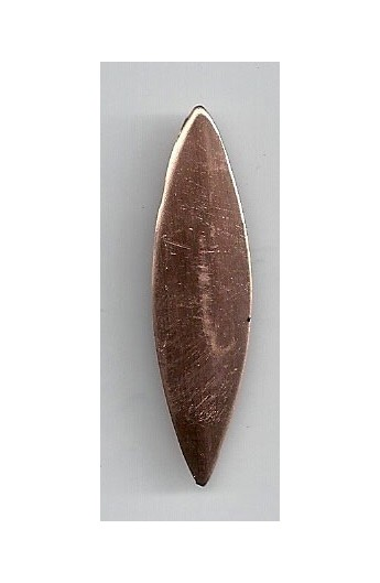 Oval, domed 1/2 X 1 3/4 inch - ( Pack of 10 ) Copper Ref: 742