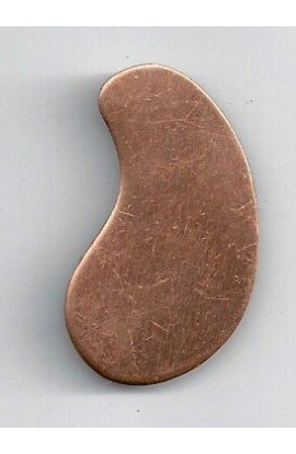 Oval, waved 7/8 X 1 1/2 inch - ( Pack of 10 ) Copper Ref: 768