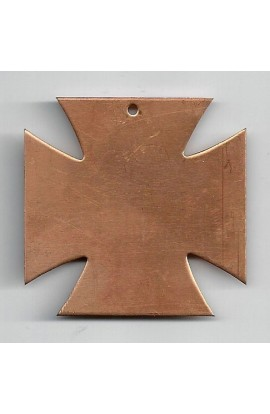 Pendant, cross 2 X 2 inch - ( Pack of 1 ) Copper Ref: 772