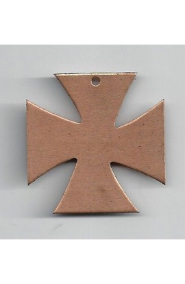 Pendant, cross 1 1/2 X 1 1/2 inch - ( Pack of 1 ) Copper Ref: 773