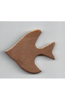 Fish 1 13/16 X 1 9/16 inch - ( Pack of 5 ) Copper Ref: 800