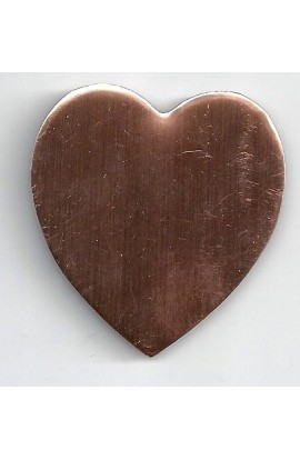 Heart 1 3/4 X 1 15/16 inch - ( Pack of 5 ) Copper Ref: 807