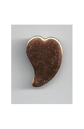 Heart 5/8 X 7/8 inch - ( Pack of 10 ) Copper Ref: 809