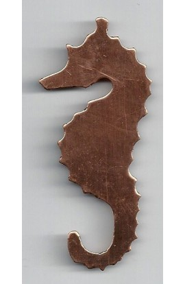 Sea horse 1 5/16 X 2 7/8 inch - ( Pack of 5 ) Copper Ref: 845