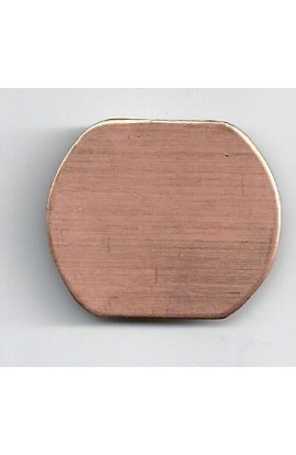 Badge 1 3/8 X 1 1/8 inch - ( Pack of 10 ) Copper Ref: 850