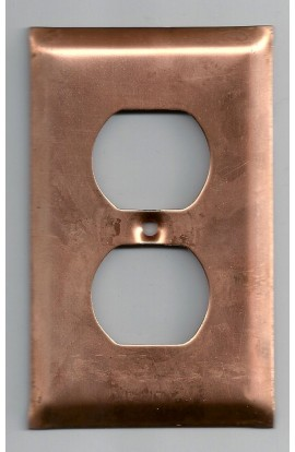 Electric plate, double plug 2 3/4 x 4 7/16 inch - ( Pack of 1 ) Copper Ref: 855