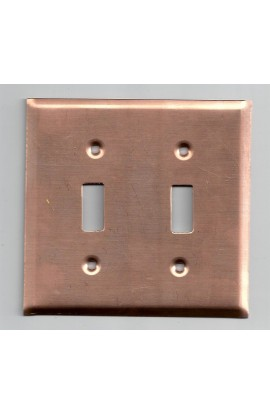 Electric plate, 2 switchs 4 9/16 X 4 7/16 inch - ( Pack of 1 ) Copper Ref: 857