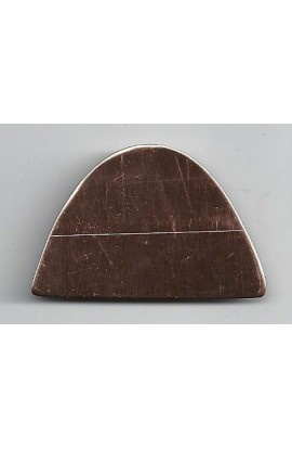 Haft- oval 1 3/4 X 1 3/16 inch - ( Pack of 10 ) Copper Ref: 864