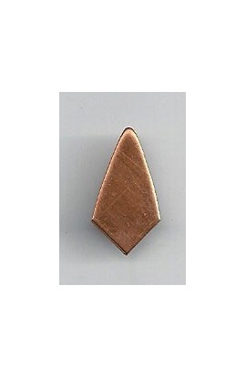 Badge 7/16 X 11/16 inch - ( Pack of 10 ) Copper Ref: 865
