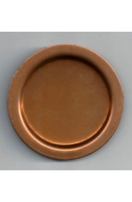 Coaster with embossing Ø 3 inch - ( Pack of 1 ) Copper Ref: 869