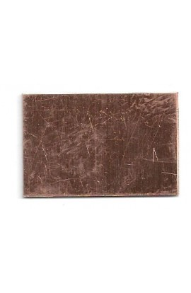 Rectangle 1 X 1 1/2 inch - ( Pack of 10 ) Copper Ref: 105