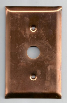 Cable plate 2 7/8 X 4 1/2 inch - ( Pack of 1 ) Copper Ref: 908