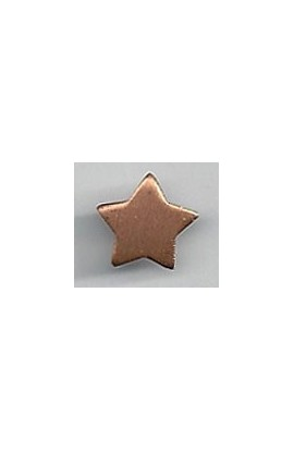 Star 1/2 X 1/2 inch - ( Pack of 10 ) Copper Ref: 935