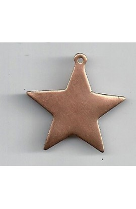 Pendant, star 1 3/16 X 1 1/4 inch - ( Pack of 10 ) Copper Ref: 940