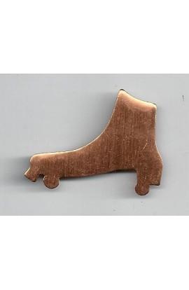 Roller skate 1 5/8 X 1 1/4 inch - ( Pack of 10 ) Copper Ref: 953