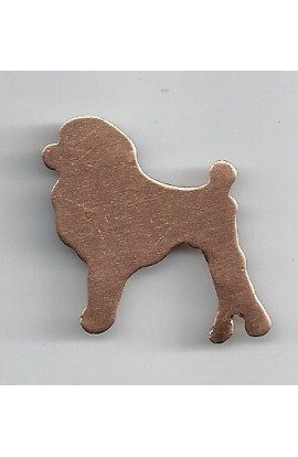 Poodle 1 3/8 X 1 1/4 inch - ( Pack of 10 ) Copper Ref: 955