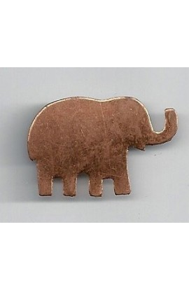 Elephant 1 1/4 X 13/16 inch - ( Pack of 10 ) Copper Ref: 957
