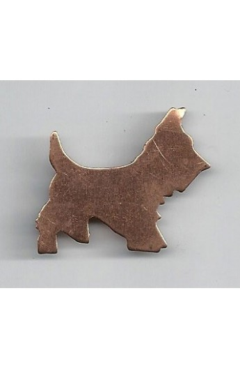 Dog 1 3/8 X 1 1/8 inch - ( Pack of 10 ) Copper Ref: 964