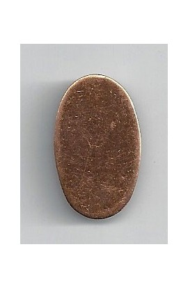 Oval 5/8 X 1 1/16 inch - ( Pack of 10 ) Copper Ref: 967