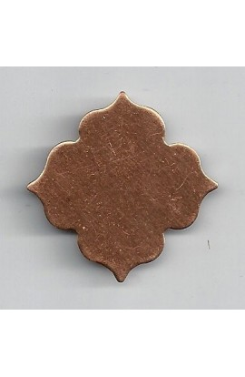 Flower 1 3/16 X 1 3/16 inch - ( Pack of 10 ) Copper Ref: 972