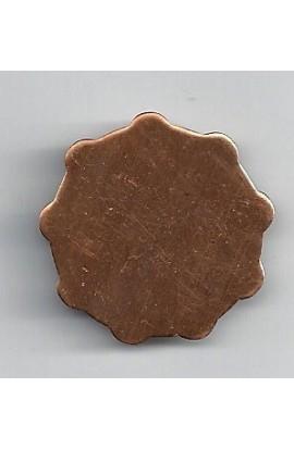 Rosette Ø 1 3/16 inch - ( Pack of 10 ) Copper Ref: 977