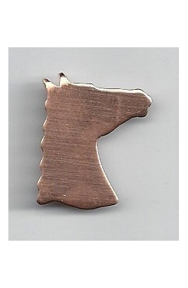 Horse head 7/8 X 1 inch - ( Pack of 10 ) Copper Ref: 987