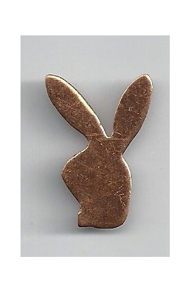 Rabbit head 3/4 X 1 1/8 inch - ( Pack of 10 ) Copper Ref: 988