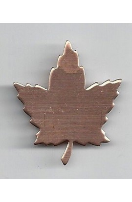 Maple leaf 1 5/16 X 1 1/2 inch - ( Pack of 10 ) Copper Ref: 991