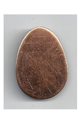 Egg 7/8 X 1 1/4 inch - ( Pack of 10 ) Copper Ref: 993