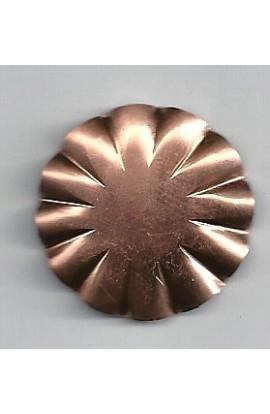 Flower, embossed Ø 1 1/8 inch - ( Pack of 5 ) Copper Ref: 994