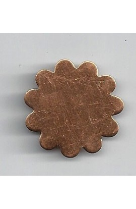 Flower 1 1/16 X 1 1/16 inch - ( Pack of 10 ) Copper Ref: 998